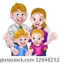 Cartoon Parents and Kids 32646232