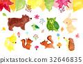秋天动物插图 32646835