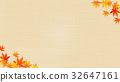 在秋天圖像織品的背景的秋葉 32647161