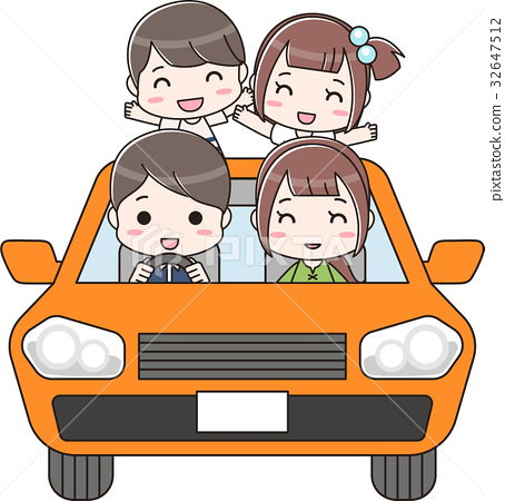 Families riding in the car 32647512