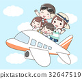 air plane, family, journey 32647519
