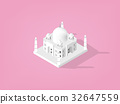vector isometric design concept of Taj Mahal,India 32647559