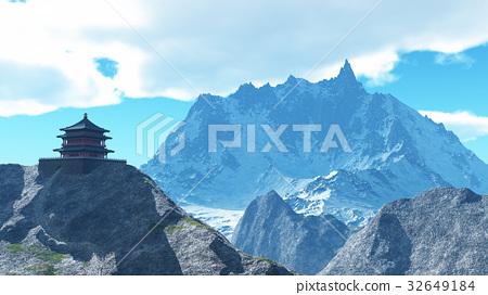 Sun temple - Buddhist shrine in the Himalayas 3d 32649184