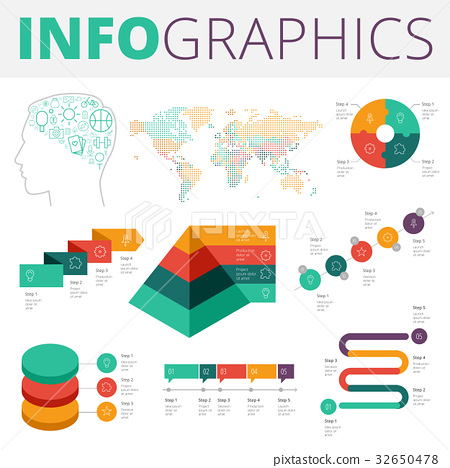 Infographics design elements for business 32650478