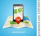 Navigation Concept. Vector 32650603