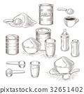 powder, milk, vector 32651402