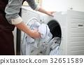주부 (세탁 가사 일 드럼 작가 30 대 남성 아빠 세탁 가전 주택 앞치마 청결) 32651589