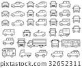 簡單車的正面和側面(畫線) 32652311