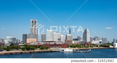 橫濱,港區未來日的景觀 32652881