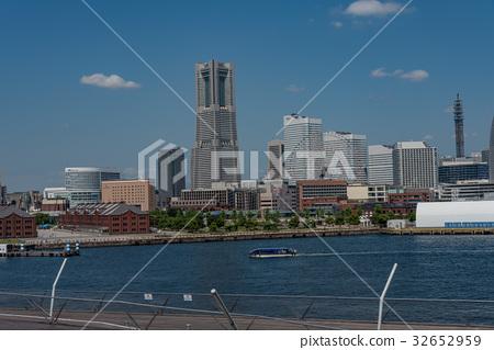 [神奈川縣]橫濱港未來景色白天 32652959