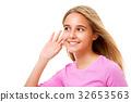girl, teenager, ear 32653563