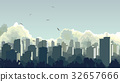 城市 天空 背景 32657666