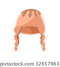 Beige winter hat vector Illustration 32657963