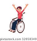輪椅 男性 男人 32658349