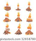 fire, bonfire, vector 32658780
