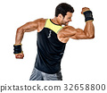 fitness man cardio boxing exercises isolated 32658800