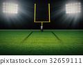 american football field goal post 32659111