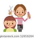 理髮師 美髮師 美女藝術家 32659264