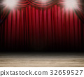 blank stage with red curtain background 32659527