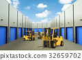 forklift truck in warehouse 32659702