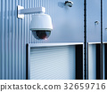 security camera in warehouse 32659716