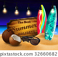 tropical vector background 32660682