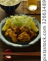 deep-fried, fried food, fried chicken 32663489