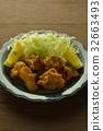 deep-fried, fried food, fried chicken 32663493