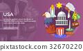 usa travel banner 32670220