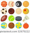 sport, balls, icon 32670222