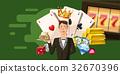 casino, croupier, horizontal 32670396