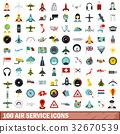 100, icons, set 32670539
