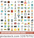 100, education, icons 32670702