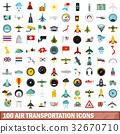 100, transportation, icons 32670710