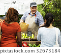 Man owner fresh grocery organic shop 32673184