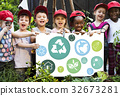 Kid and environment education concept 32673281
