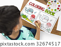 Coloring Book Education Talent Concept 32674517