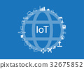IoT - Internet of thing background 32675852
