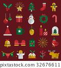 christmas, collection, icon 32676611