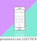 휴대, 전화, 핸드폰 32677878