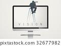 Monitor Screen Vision Word Vector Concept 32677982
