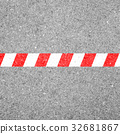 Red white line - limit, boundary, end 32681867