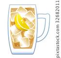 高球 啤酒杯 檸檬 32682011