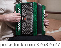 The musician playing the accordion 32682627