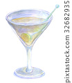 Watercolor illustration food cocktail 32682935