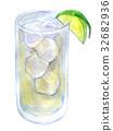 水彩例证食物鸡尾酒 32682936