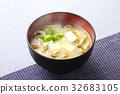 nameko, pholiota nameko, tofu 32683105