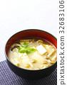 nameko, pholiota nameko, tofu 32683106
