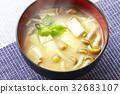 nameko, pholiota nameko, tofu 32683107
