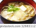 nameko, pholiota nameko, tofu 32683112